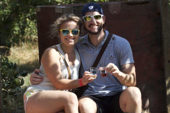 Guests at Wards' Cider Fest